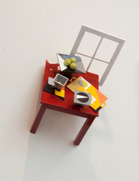 Mike Wright: After Kenneth Stubbs' Red Tabletop, White Window