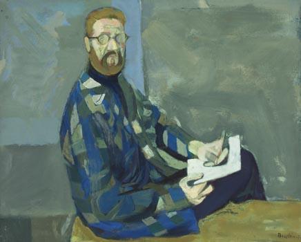 Daniel Brustlein: Autoportrait en Bleu