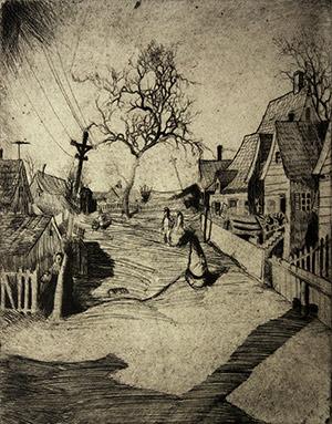 Edwin Dickinson: Montello Street