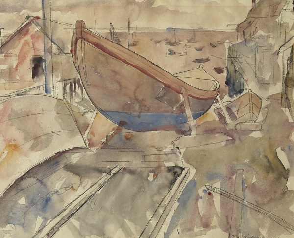 Edwin Dickinson: Boatyard, Provincetown