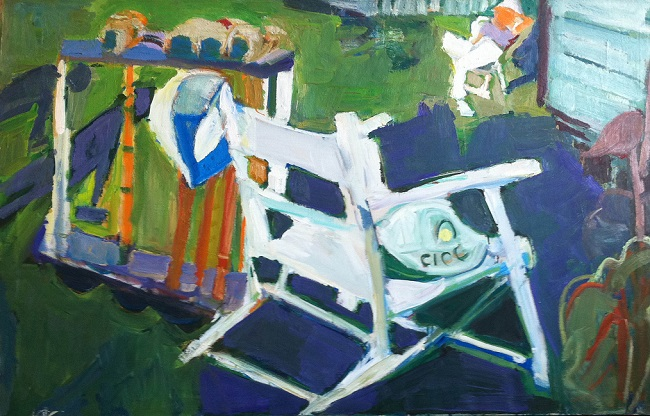 Dorothy Eisner: Croquet and Chair II