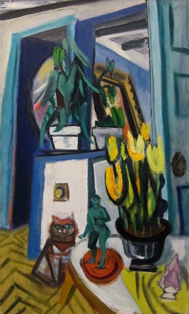 Maurice Freedman: Tulips and Cat