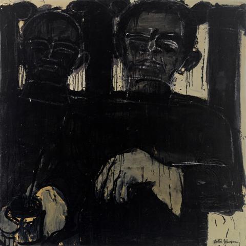Lester Johnson: Artist with Columns