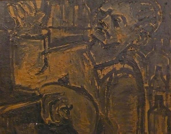 Lester Johnson: Artist in Studio Umbers