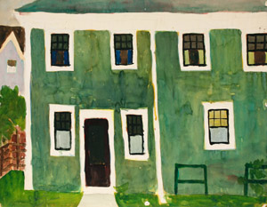 Lester Johnson: Green House, Provincetown