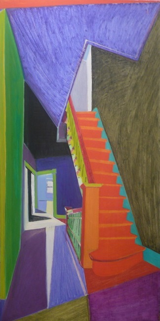 Sharli Powers Land: Orange Staircase