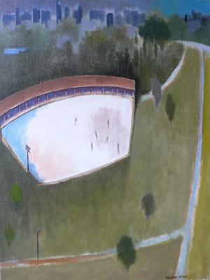 Herman Maril: Central Park Skaters
