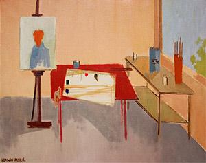 Herman Maril: Portrait on Easel