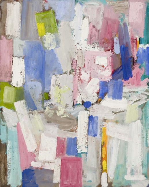 Lillian Orlowsky: Abstraction in Pink, White and Blue