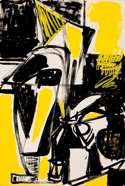 Lillian Orlowsky: Black and Yellow Still Life