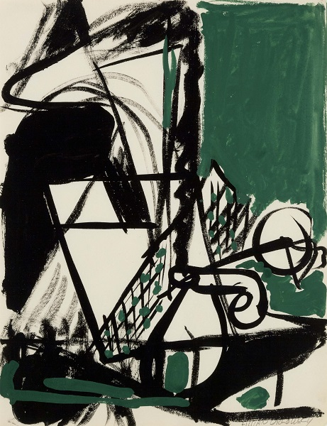 Lillian Orlowsky: Black and Green Still Life