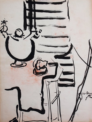 Lillian Orlowsky: Ink Still Life
