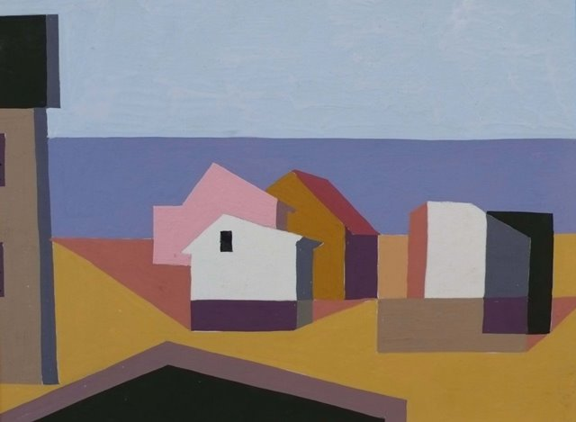 Kenneth Stubbs: Shorescape Houses on Beach (CM536)