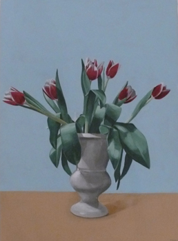 Richard Baker: Six Tulips in a Vase