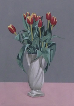 Richard Baker: Eight Tulips in a Vase