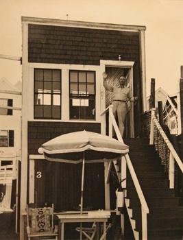 Maurice Berezov: Adolph Gottleib (1903-1974), Outside his Fishing Shack/Studio