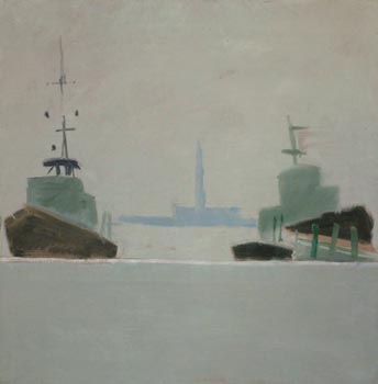 "Daniel ""Alain"" Brustlein: Venice Bateau a Quai"