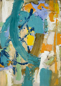 William Freed: Orange and Turquoise Abstraction