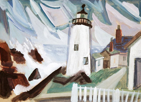 Maurice Freedman: Pemaquid Lighthouse