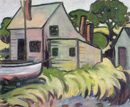 Howard Gibbs: House with Boat