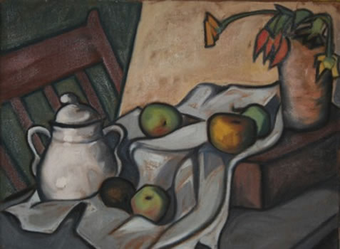 Howard Gibbs: Still Life with Sugar Bowl