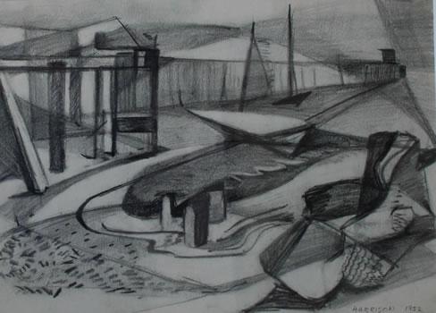 Myrna Harrison: Fishing Wharf, Provincetown