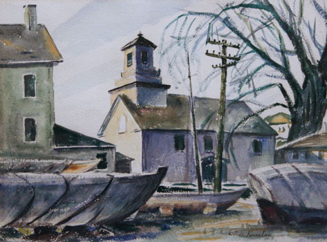 Charles Kaeselau: Town Center with Boats