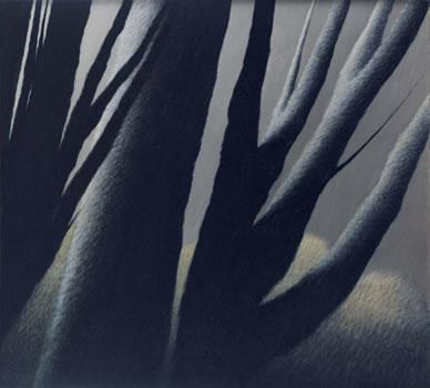 Robert Kipniss: Large Trees at Dusk