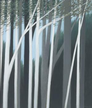 Robert Kipniss: Hillside with Light & Dark Trees