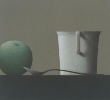 Robert Kipniss: Still Life with Fruit & Cup