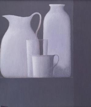 Robert Kipniss: Still Life with Glass & Cup