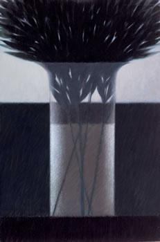 Robert Kipniss: Vase and Leaves II