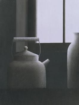 Robert Kipniss: Window with Kettle & Vase