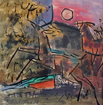 Karl Knaths: Deer in Dunes