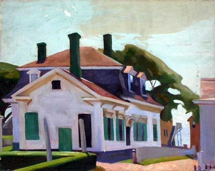 Florence Leif: White House with Green Chimney