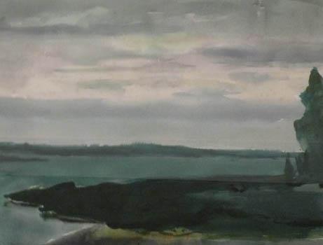 Philip Malicoat: Untitled Maine Landscape (#2)