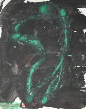 George McNeil: Green Figure Composition