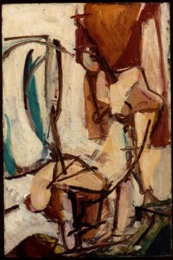George McNeil: Seated Figure