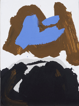 Robert Motherwell: Black, Brown and Blue Automatism