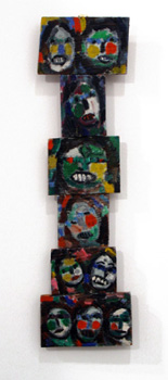 Jan Muller: Untitled Hanging Piece (10 Faces)