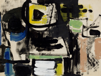 Lillian Orlowsky: Green Blue and Yellow Still Life