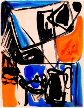 Lillian Orlowsky: Blue and Orange Still Life