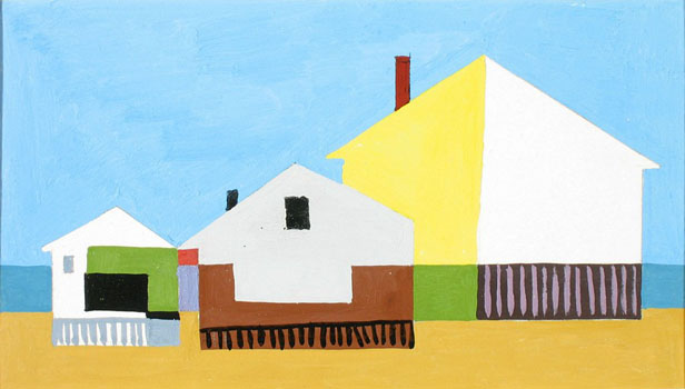 Kenneth Stubbs: Houses and Beach (CM533)
