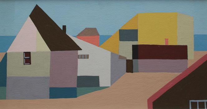Kenneth Stubbs: Shorescape with Pink Door (CM013)