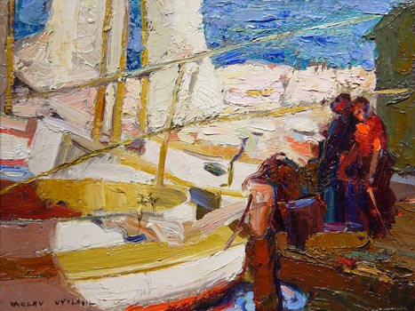 Vaclav Vytlacil: Boats at the Dock