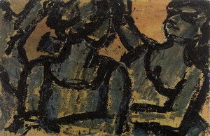 Dancers 1966 oil on canvas 26 x 40