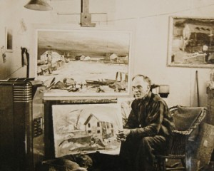 Charles Heinz in his studio. Source: Building Provincetown